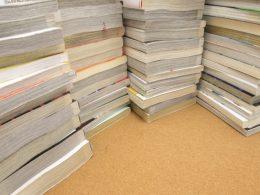 大量の書籍と雑誌の不用品回収