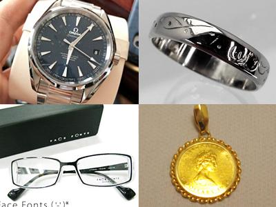 アクセサリー、貴金属、腕時計、眼鏡