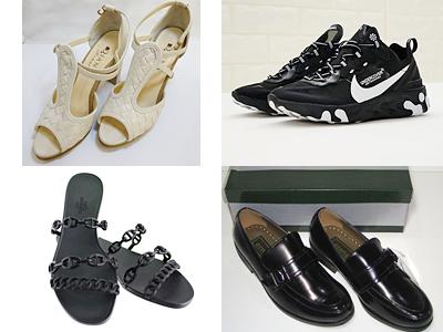 靴(スニーカー、革靴、ブーツ、ヒール、サンダル等)