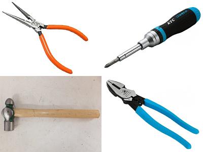 作業用工具(ドライバー、ペンチ、モンキ、ハンマー等)